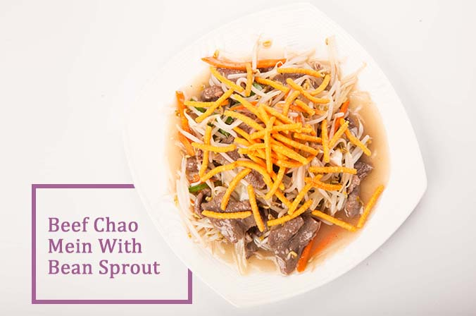 Beef Chao Mein With Bean Sprout