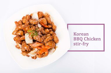 Korean BBQ Chicken stir-fry
